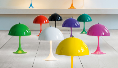 1. louis poulsen Panthella Mini LED table lamp with dimmer