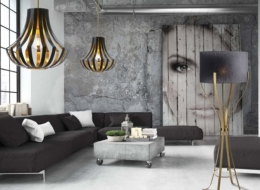 The Culture of Art Lisbon to Moscow Brass Floor Lamp